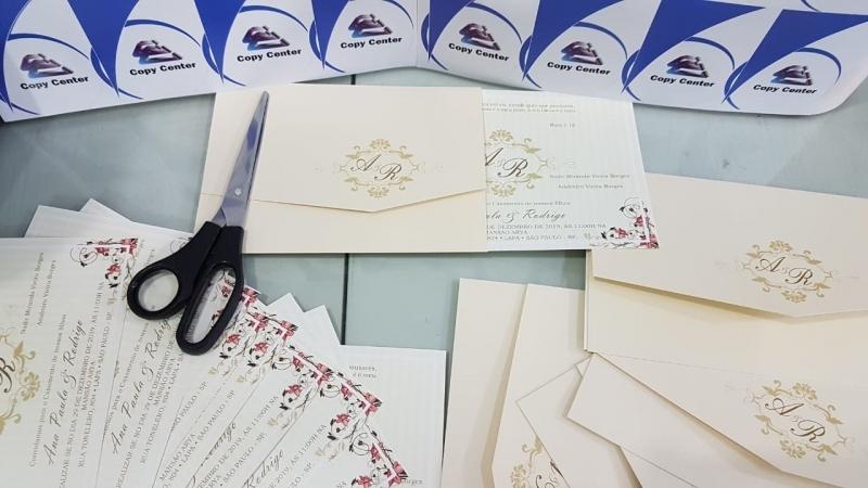 Gráficas de Impressão Digital Convite de Casamento GRANJA VIANA - Impressão Digital Crachá