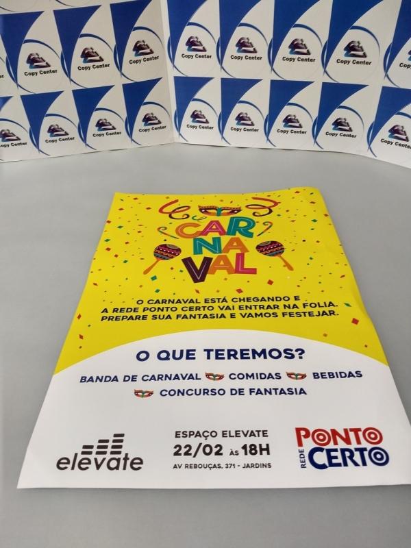 Impressão de Cartaz A3 Colorido Preço Trianon Masp - Impressão Cartaz