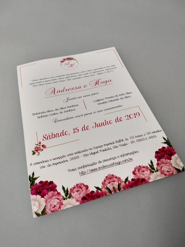 Impressão Digital Convite de Casamento Aclimação - Impressão Digital Manuais