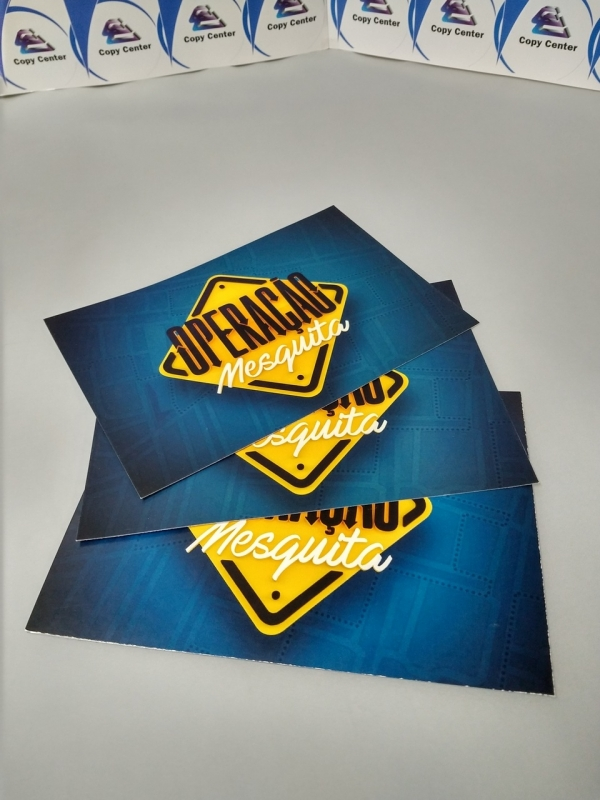 Impressões Digitais Cartões Brás - Impressão Digital Crachá