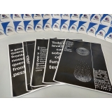 gráfica de cartaz impressão digital Luz