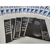 cartaz impressão digital