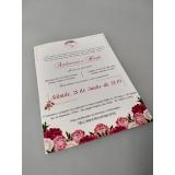 impressão digital convite de casamento Cerqueira César