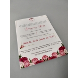 impressão digital convite de casamento Alphaville Industrial